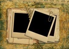 Vintage shabby background with polaroid-frame Stock Photography