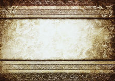 Vintage shabby banner with classy patterns Royalty Free Stock Photography