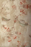 Vintage shabby chic beige wallpaper with floral victorian patter Stock Photos