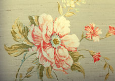 Vintage shabby chic brown wallpaper with floral pattern Stock Image