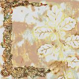 Vintage Shabby Chic Leaf Background Royalty Free Stock Image