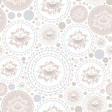 Vintage shabby Chic Seamless pattern with flowers and leaves. Vector Stock Photo