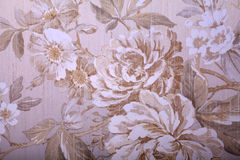 Vintage shabby chic wallpaper with floral victorian pattern Royalty Free Stock Photography