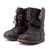 Vintage shabby child's boots Royalty Free Stock Photo
