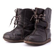 Vintage shabby child's boots Royalty Free Stock Image