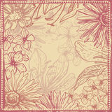 Vintage shabby floral card Royalty Free Stock Photo