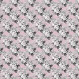 Vintage shabby floral roses background seamless pattern stock illustration