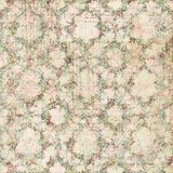 Vintage shabby floral roses background seamless pattern vector illustration