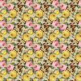 Vintage shabby floral roses background seamless pattern royalty free illustration