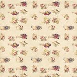 Vintage shabby floral roses and hands background seamless pattern Stock Photography