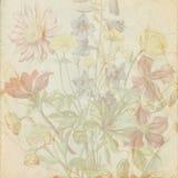 Vintage shabby flower paper Royalty Free Stock Photo
