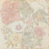 Vintage shabby flower paper texture stock illustration