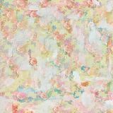Vintage shabby painted floral roses background seamless pattern Royalty Free Stock Photography