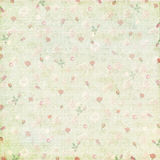 Vintage shabby rose paper background Royalty Free Stock Photo