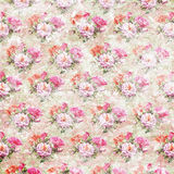 Vintage shabby roses wallpaper Stock Photography