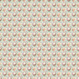 Vintage shabby seamless repeat flower pattern wallpaper Stock Image