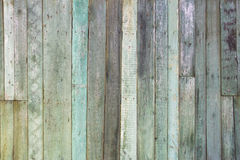 Vintage shabby turquoise weathered painted wood texture as background. Old, grunge wood panels painted in turquoise color used as background Stock Images
