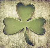 Vintage  shamrock Stock Photography