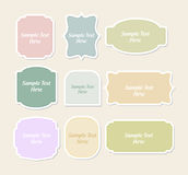 Vintage shaped label set Royalty Free Stock Images