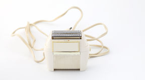 Vintage shaver with cable Royalty Free Stock Image