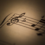 Vintage Sheet Music Royalty Free Stock Photos