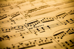 Vintage Sheet Music Background Royalty Free Stock Images