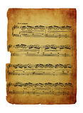 Vintage sheet music isolated on white Royalty Free Stock Photos