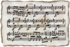 Vintage sheet music Royalty Free Stock Images