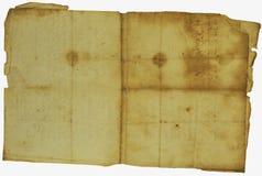 Vintage sheet of  paper Stock Image