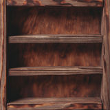 Vintage shelf. Stand on the wooden background royalty free stock image