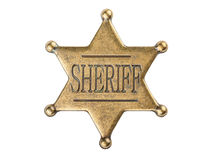 Vintage sheriff star badge Stock Images
