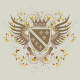 Vintage shield with Fleur-de-lis. Vector illustraion stock illustration