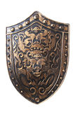Vintage shield. Old decorative shield isolated over white royalty free stock image