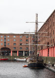 Vintage ship in the Albert Dock Stock Photo