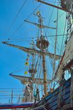 Vintage Ship at the event named Ostend anchor Royalty Free Stock Image