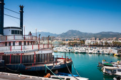 Vintage ship Mississipi Willow in Benalmadena Stock Image