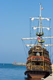 Vintage ship in port Stock Photos