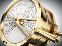 Free Vintage Ships Engine Room Telegraph On Full Speed Ahead Stock Image - 65471531