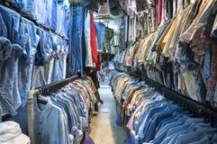 Vintage shirts at Chatuchak Weekend Market, Bangkok Royalty Free Stock Photo