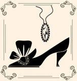 vintage shoe of dame Stock Photos