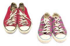Vintage shoes isolated Stock Image