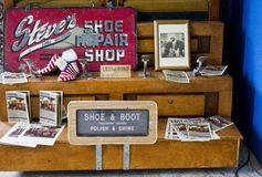 Vintage shop in exhibition Royalty Free Stock Image