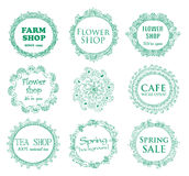 Vintage shop signages Royalty Free Stock Images
