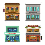 Vintage shop store office set Royalty Free Stock Images