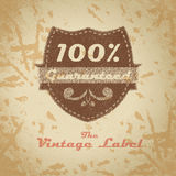 Vintage shopping heraldic label on faded paper Royalty Free Stock Photos