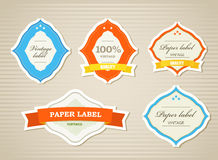 Vintage shopping labels and logo Stock Image