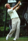 Vintage Shot of Jack Nicklaus swinging. Royalty Free Stock Photos
