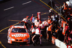 Vintage shot of Tony Stewart's #20 Home Depot Pit Crew Royalty Free Stock Image