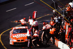 Vintage shot of Tony Stewart's #20 Home Depot Pit Crew Royalty Free Stock Photography