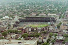Vintage Shot of Wrigley Field, Chicago, IL. Royalty Free Stock Photo